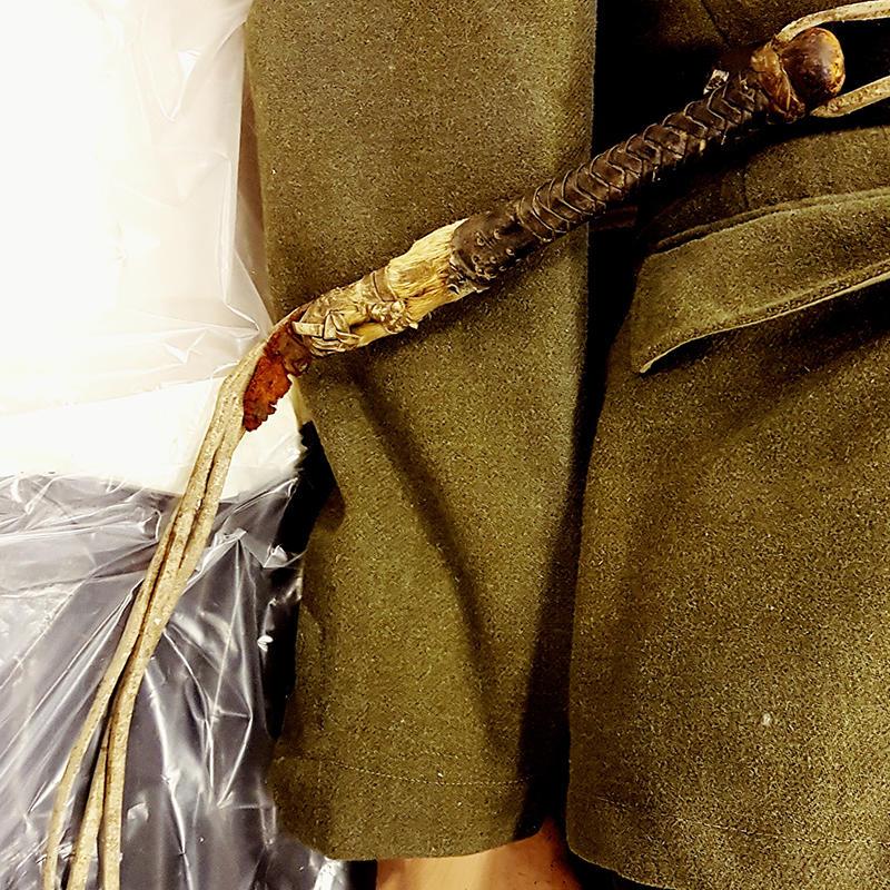 Pisk tilhørende tysk uniform. Foto: Elisabeth Kristoffersen/MiA