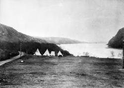 Telegrafarbeidernes leir på Elvenes, 1897.