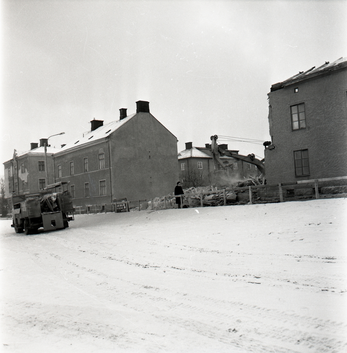 Rivning äldre kvarter i Gottfridsberg.
