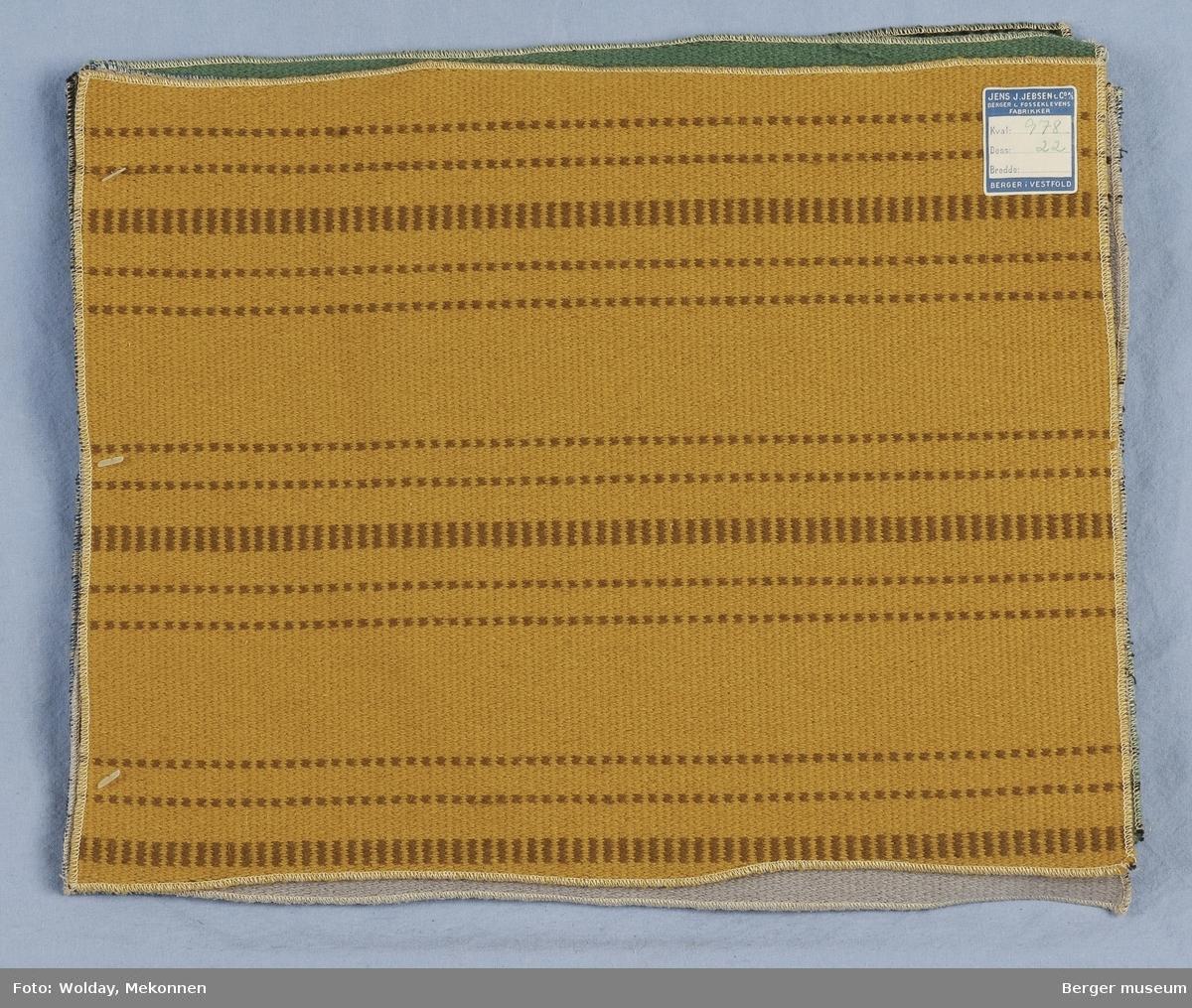 Møbelstoff 6 prøver Tverrstripet - smale striper