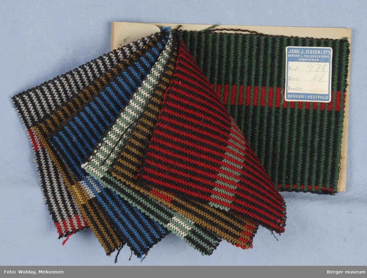 Møbelstoff 7 prøver Tverrstripet - brede og smale striper