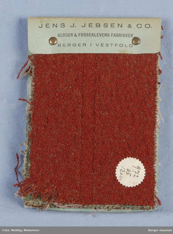 Møbelstoff Prøvebok med 7 prøver Ensfarget med mønster