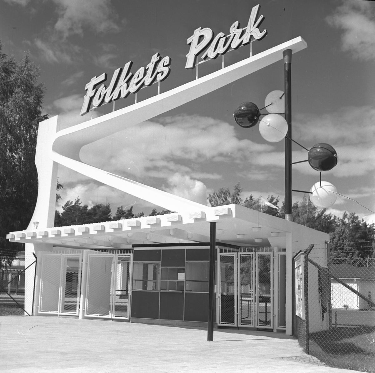 Nya Entrén vid Folkets Park.