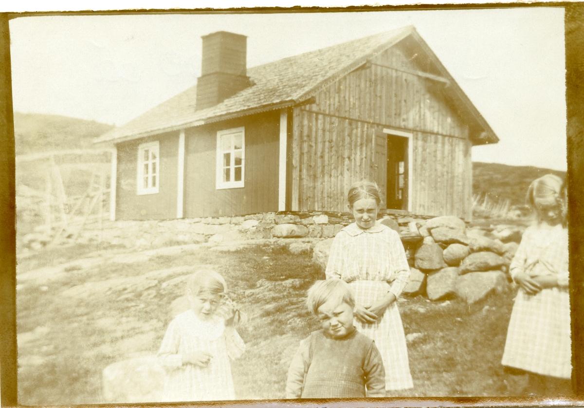 Fire barn på Juvesetertrøa, Blomstølen.
