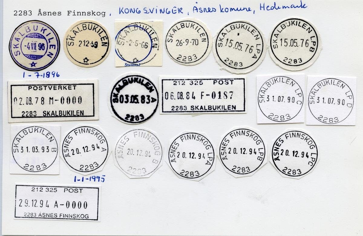 2283 Åsnes Finnskog (Skalbukilen), Kongsvinger, Åsnes, Hedmark