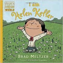 Bok om Helen Keller på engelsk skriftspråk. kr 300,-