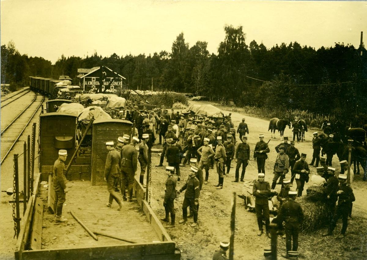 Järnvägstransport (okänt var).