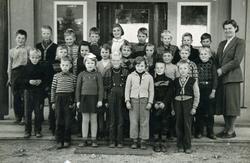 Herad Skule ca.1958. 1 rekkje frå v.Karsten Ingar Bjerkelan