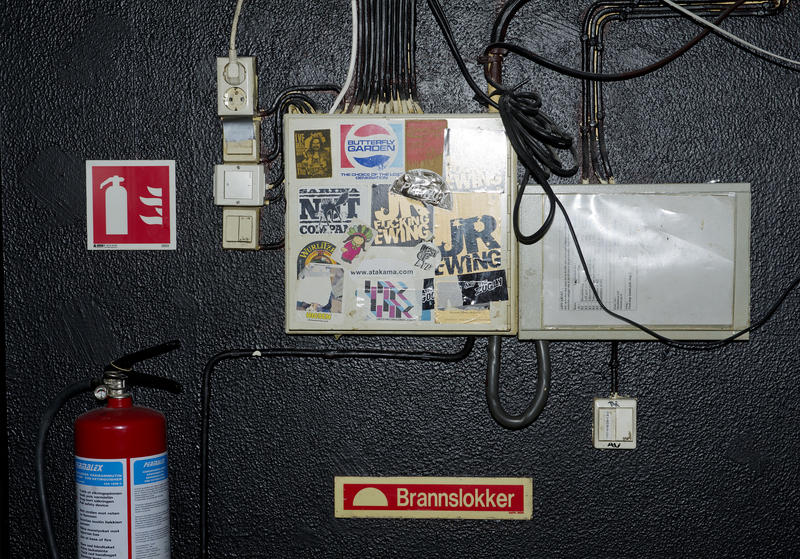 Garage-detalj. Foto: Helge Skodvin.
