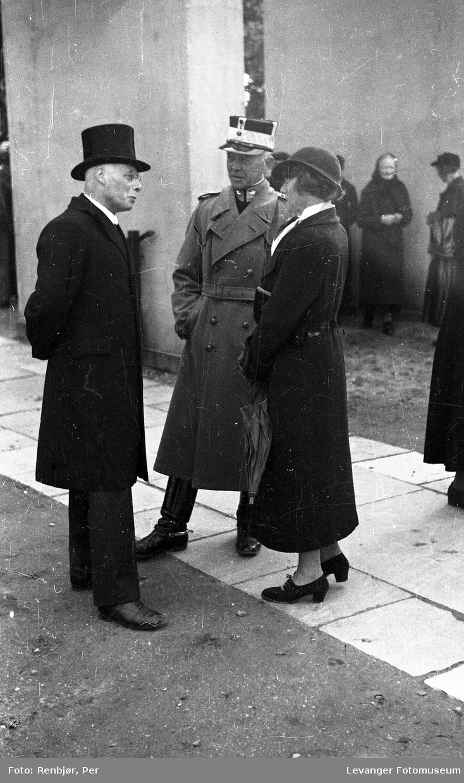 Fra Kronprins Olavs besøk i Levanger under byjubileet i 1936.
