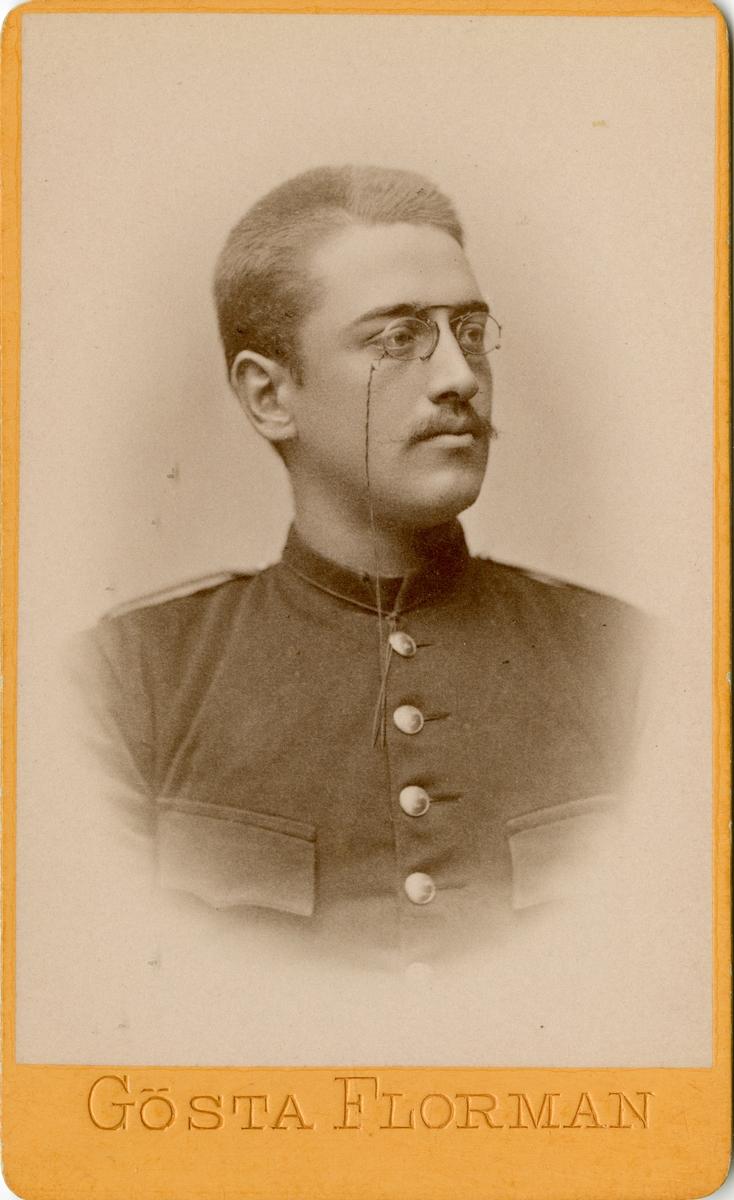 Porträtt av Johan Arthur Bäckström, officer vid Södermanlands regemente I 10.