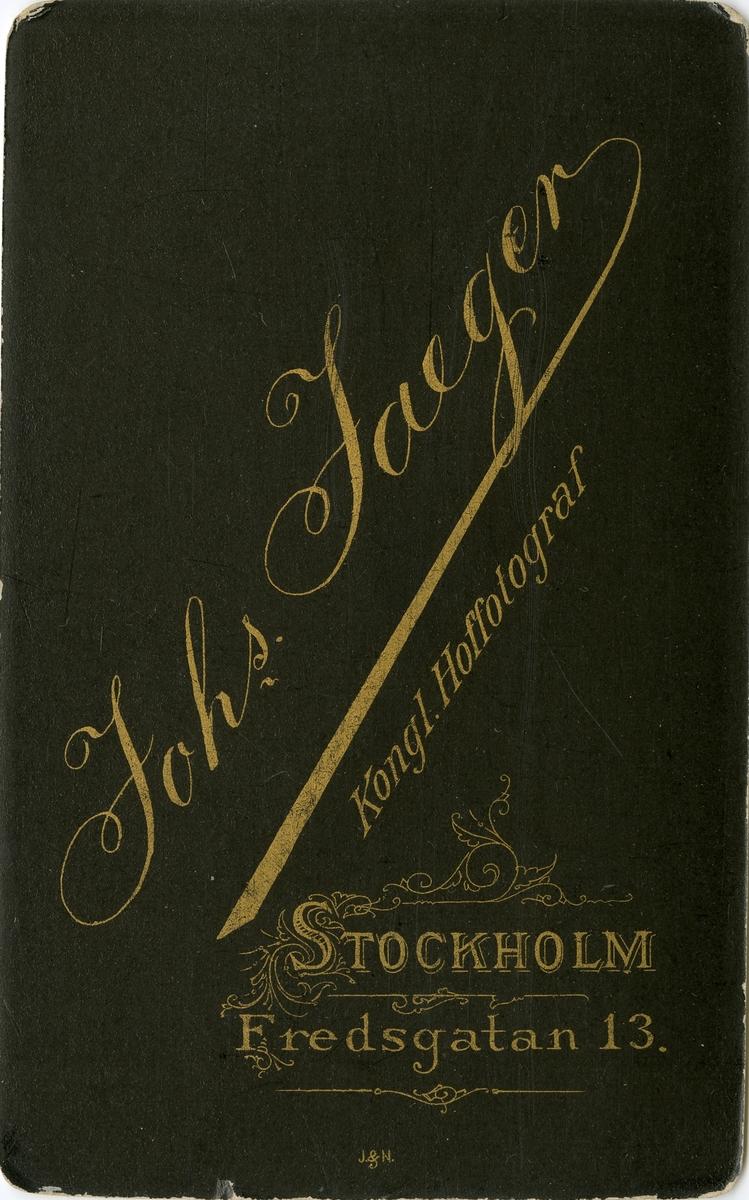 Porträtt av Hjalmar Abelin, underlöjtnant vid Andra livgrenadjärregementet I 5.