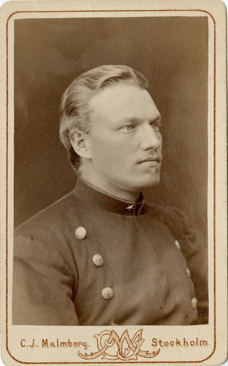 Porträtt av friherre Gustaf Miles Chritoffer Fleetwood, underlöjtnant vid Värmlands regemente I 22.