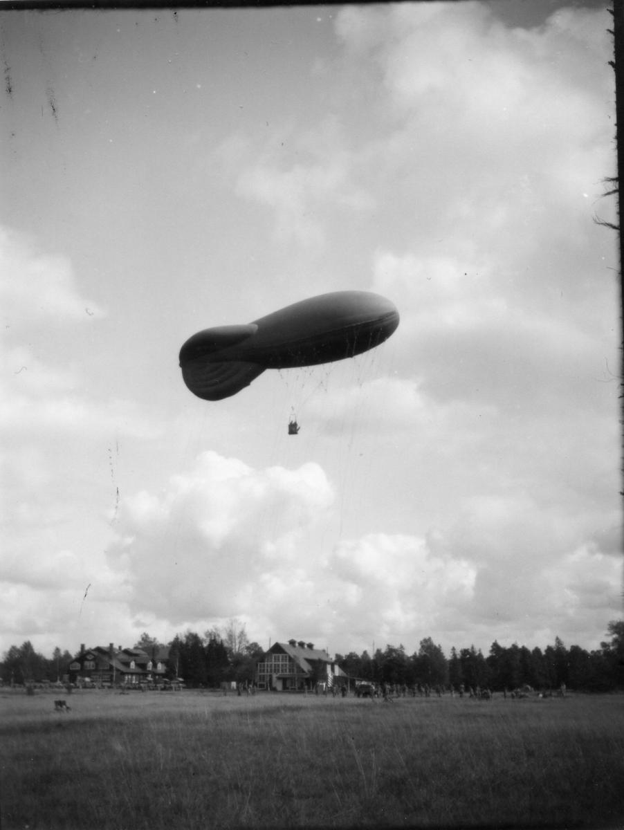 Fältballongövning i Skillingaryd.