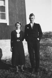 Søskenparet Peder og Valborg Nylund fra Vardneslia i Tranøyb