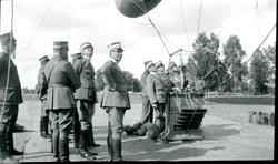 Ballongstationen i Mölnarp får besök.