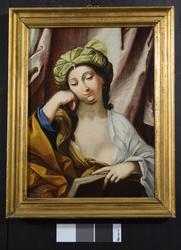 Kvinne med bok [Maleri]