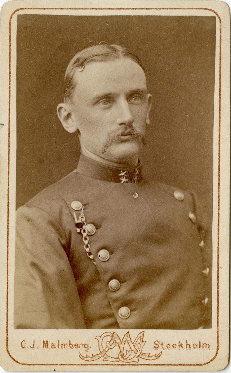 Porträtt av okänd löjtnant vid Dalregementet I 13.