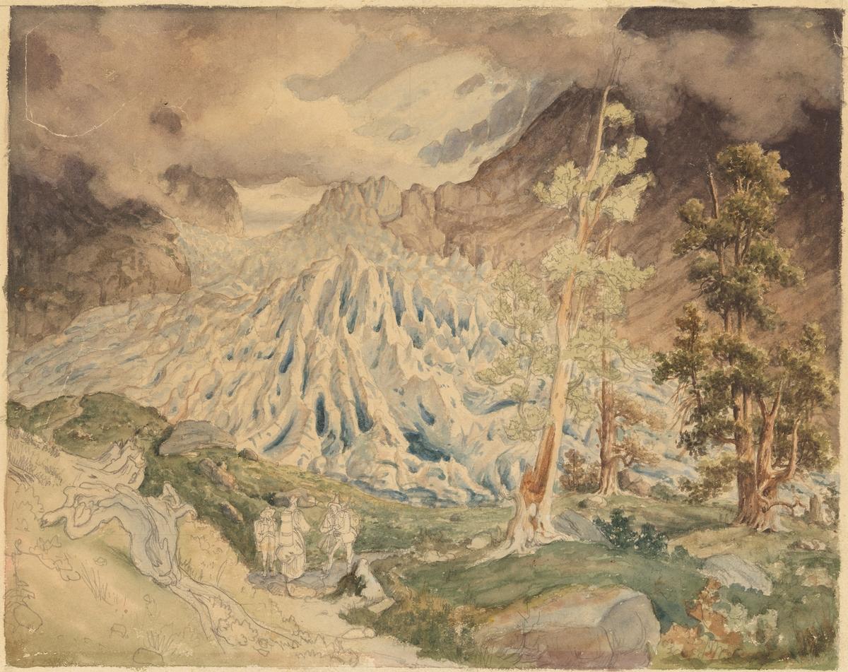 Øvre Grindelwaldbreen [Tegning]