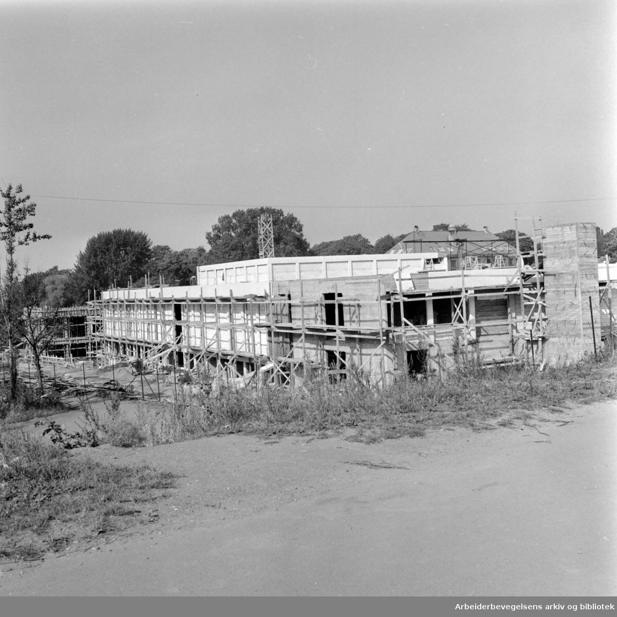 Munchmuseet på Tøyen, kranselag. September 1961
