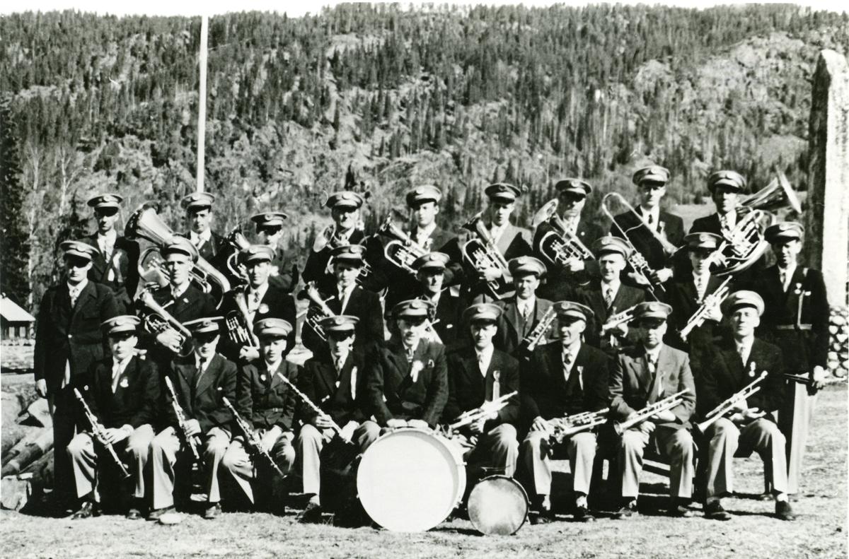 Bagn musikkorps 1958.
