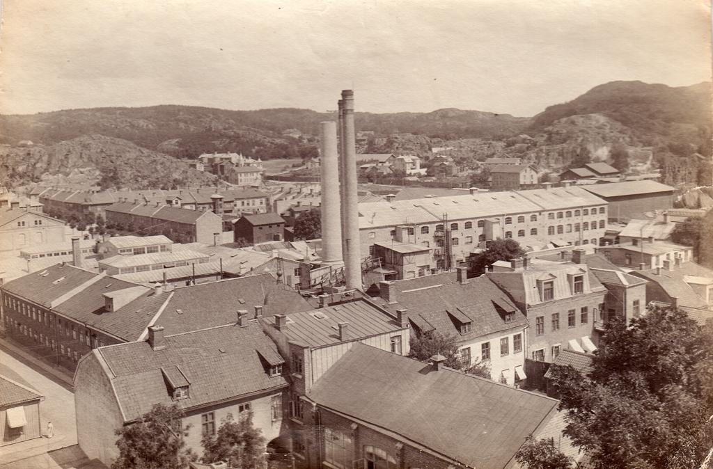 Vy över tändsticksfabriken Uddevalla