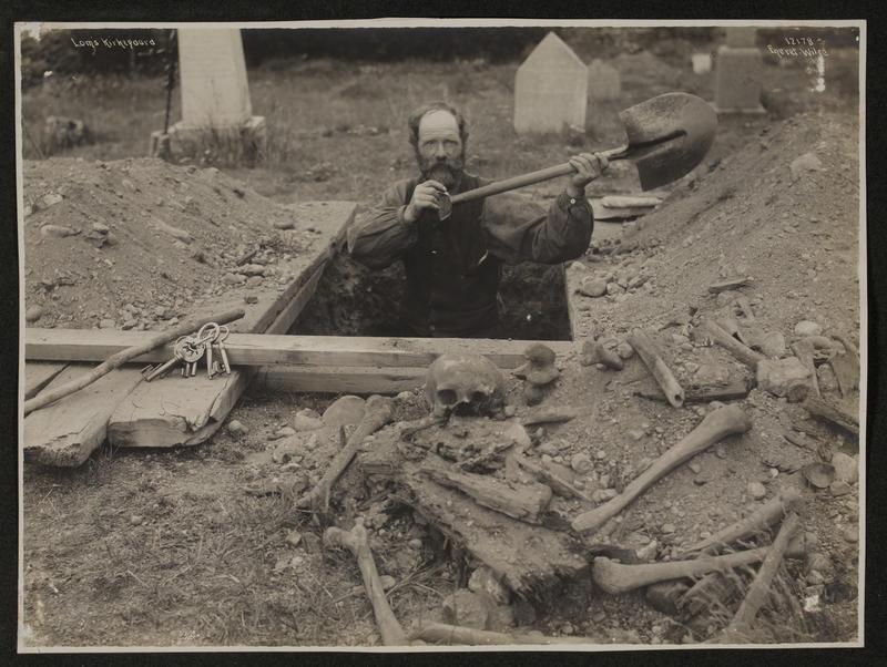 Graveren i Lom 1910 (Foto/Photo)