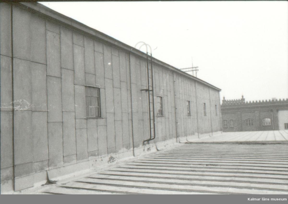Foto:M Delden November 1984 (Länsmuseets blivande lokaler) Taket från SV