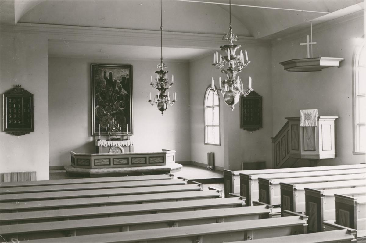 Interiör från Vissefjärda kyrka.
