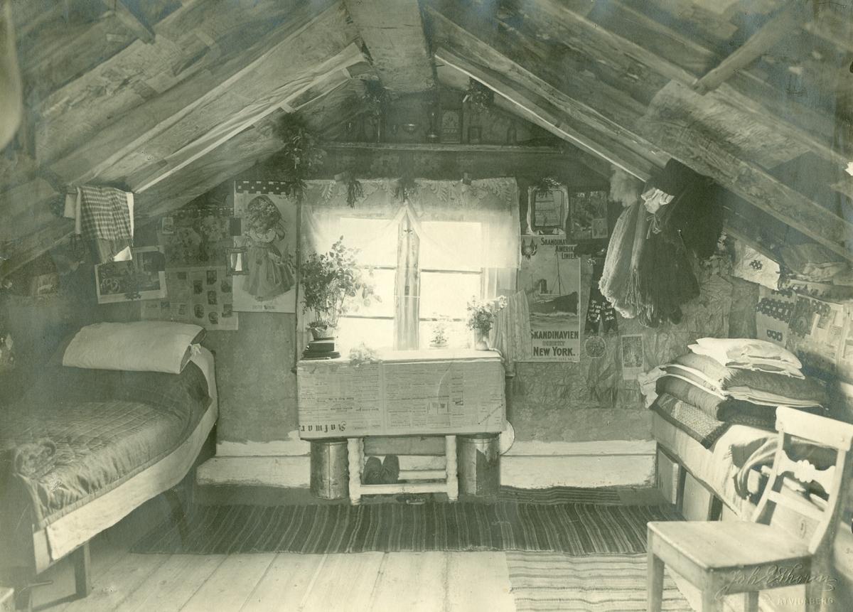 Interiör av backstugan vid Linnabacken.