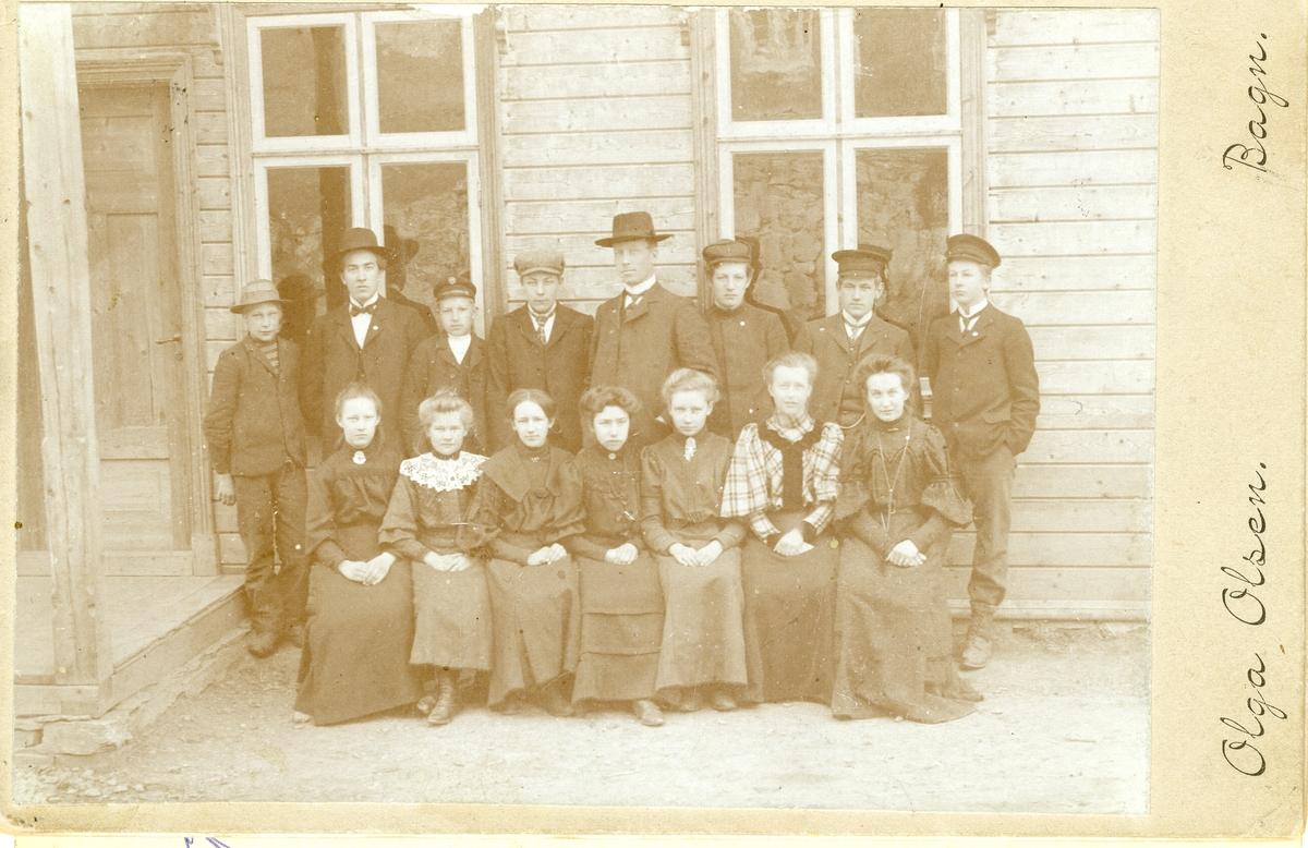 Framhaldsskule på Berg, Bagn 1905.