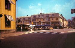 Småland Vimmerby stad Maj 1985  Torget
