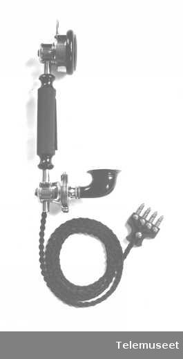 Telefonapparater, mikrotelefon med bryter, sept. 1914. Elektrisk Bureau.