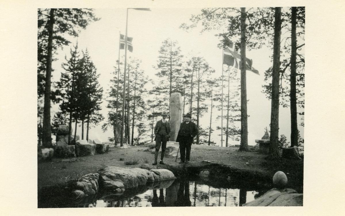 Elling Goplerud saman med Olav Nordhagen.