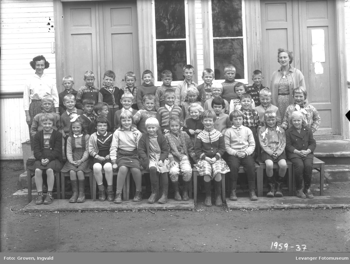 Skolebilde fra folkeskolen, Hegle skole.