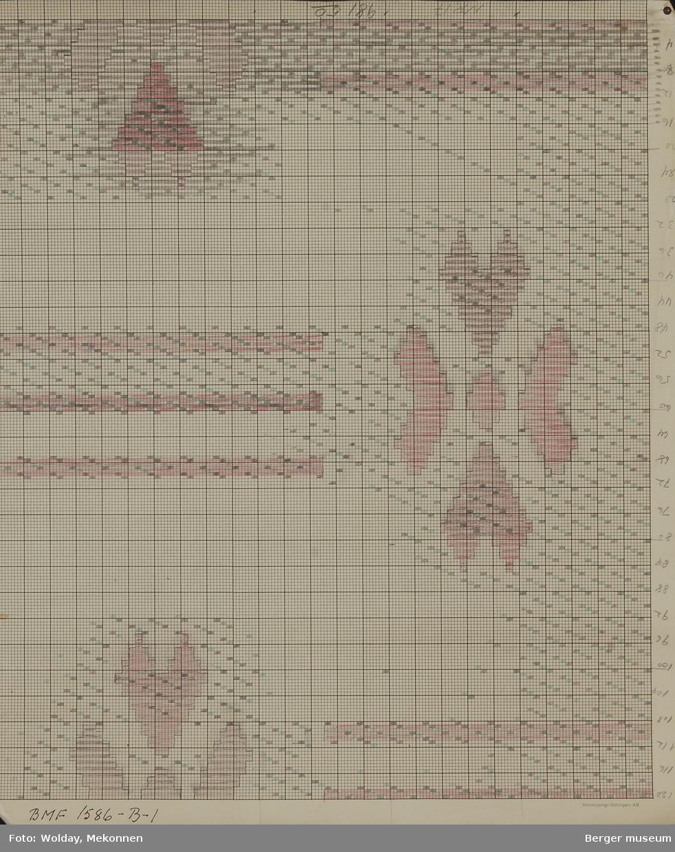 Firkløver med tre horisontale striper. (Til møbelstoff)