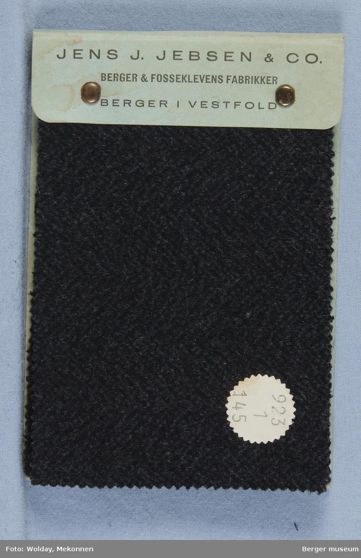 Prøvebok med 6 prøver. Kval. 923 Frakkestoff Stykkfarget