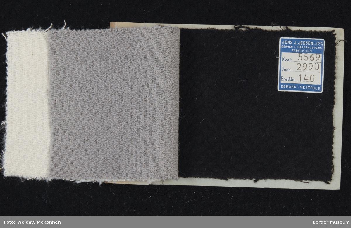 Prøvehefte med 3 prøver Jakke Stykkfarget Kvalitet 5569
