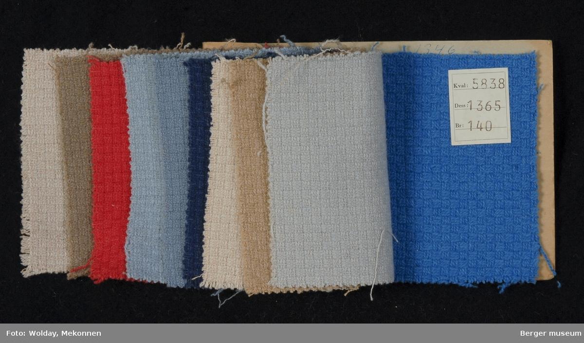 Prøvehefte med 10 prøver Kåpe/drakt, bekledning Kvalitet 5838 Stykkfarget