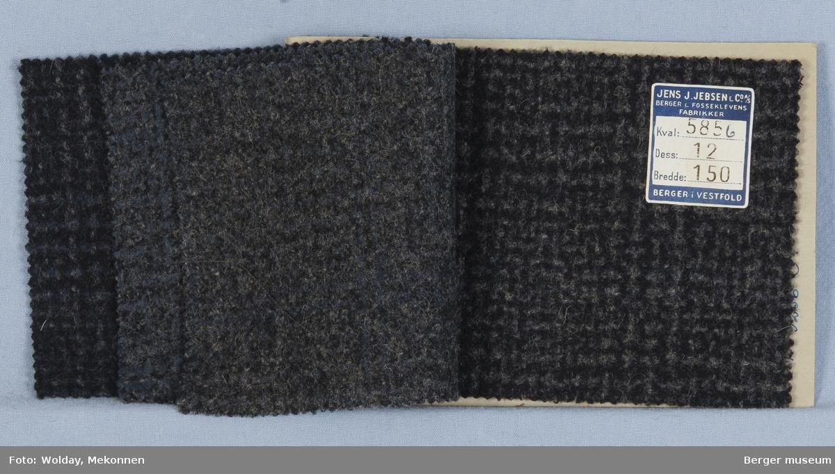 Prøvehefte med 4 prøver Frakk Kvalitet 5856A Melert