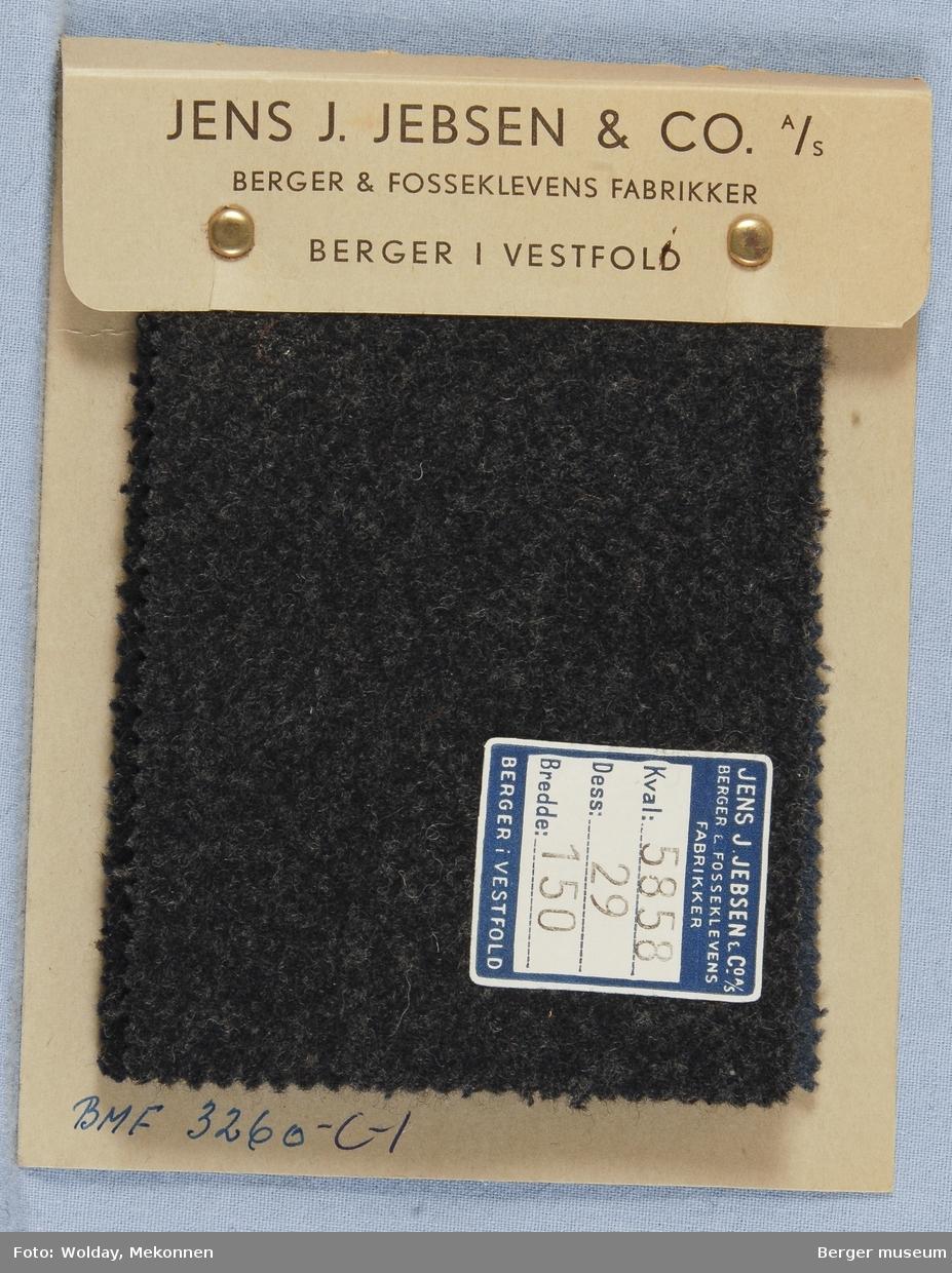Prøvehefte med 6 prøver Frakk Kvalitet 5858 Melert ensfarget