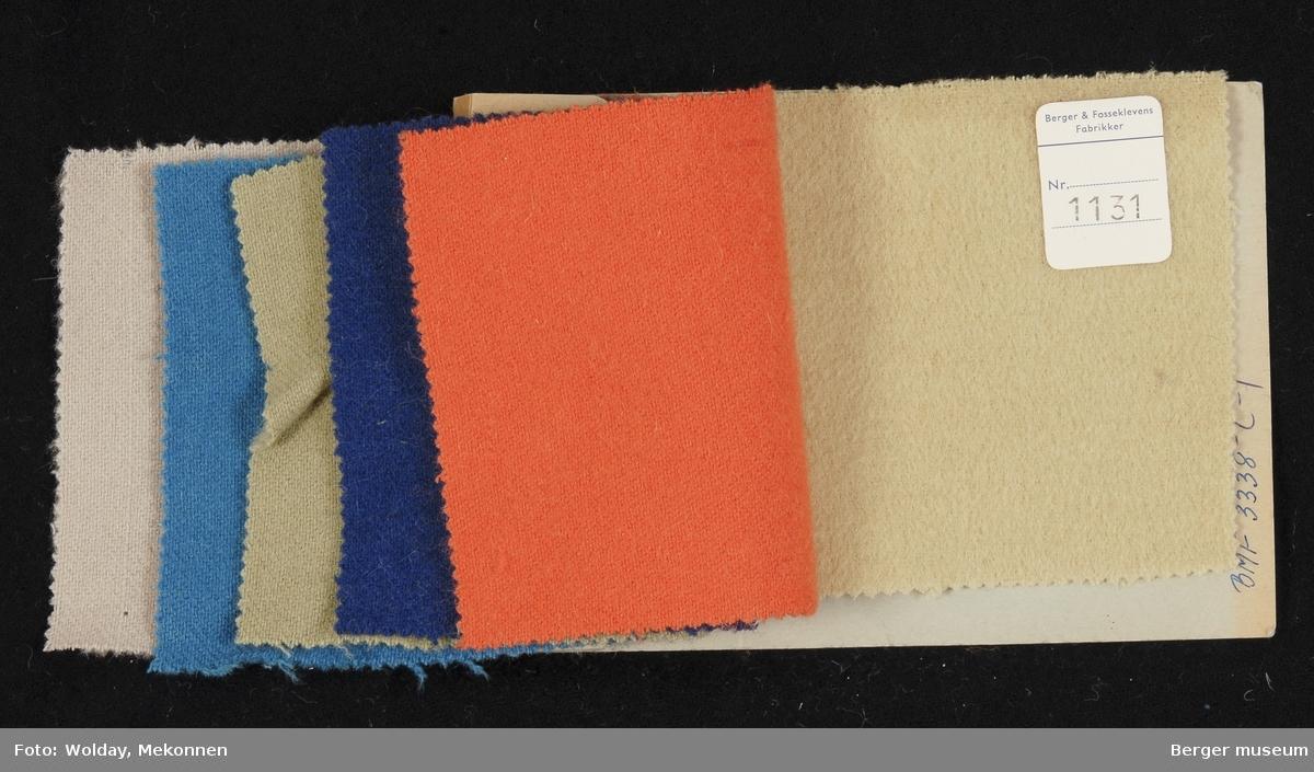 Prøvehefte med 6 prøver Jakke Kvalitet 6027 Stykkfarget