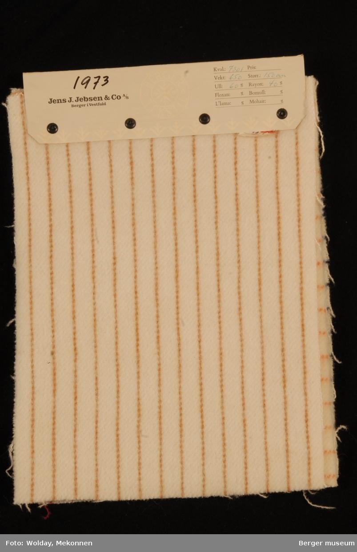 Hefte med 8 prøver Jakke/kåpe Melert Kvalitet 7301 Striper (20-serie) Ruter (30-serie)