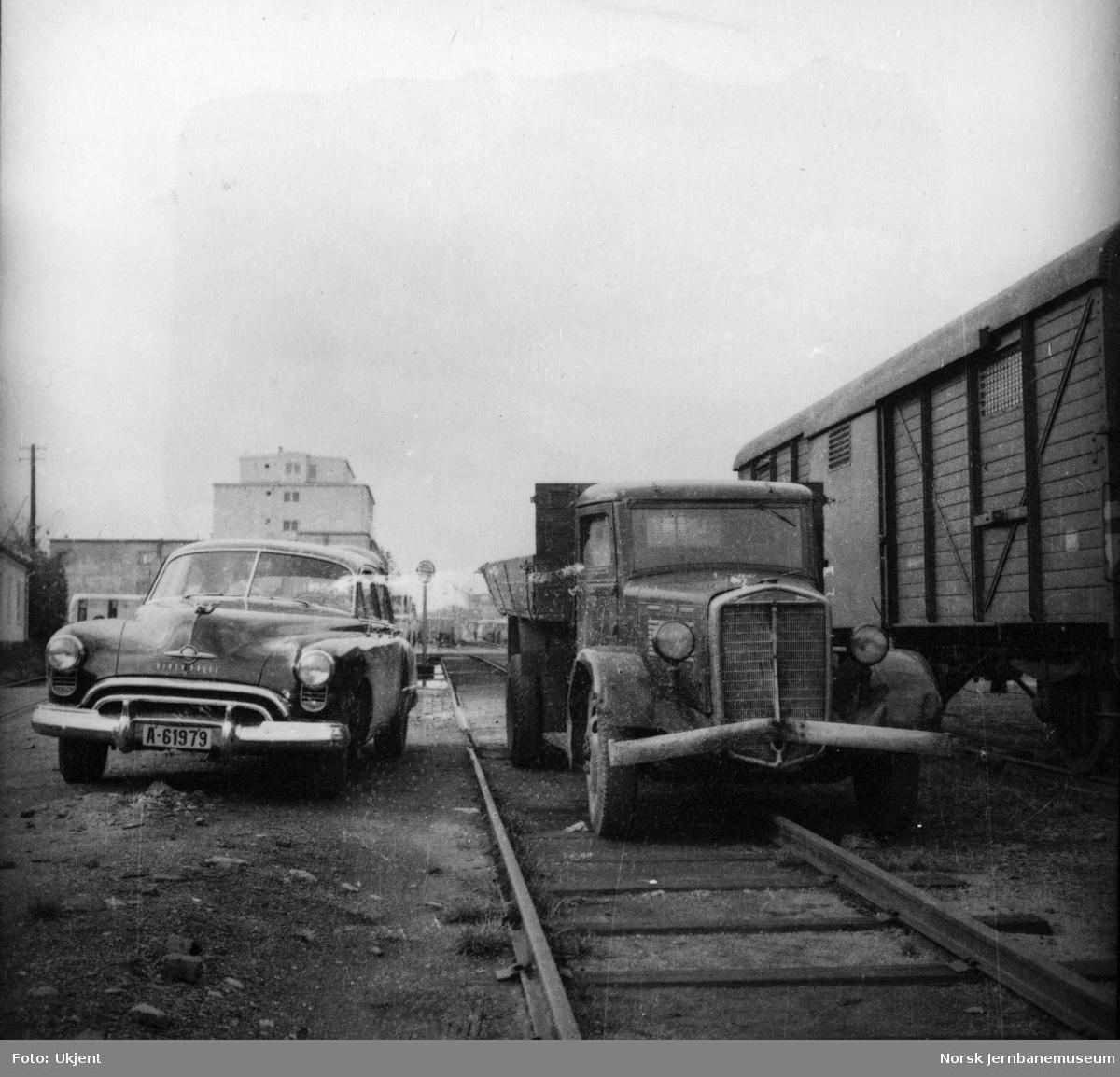 Parkering av biler på NSBs områder på Filipstad