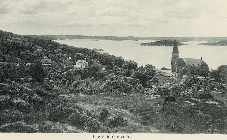 """Enligt Bengt Lundins noteringar: """"Lyckorna från öster med Ljungs kyrka""""."""