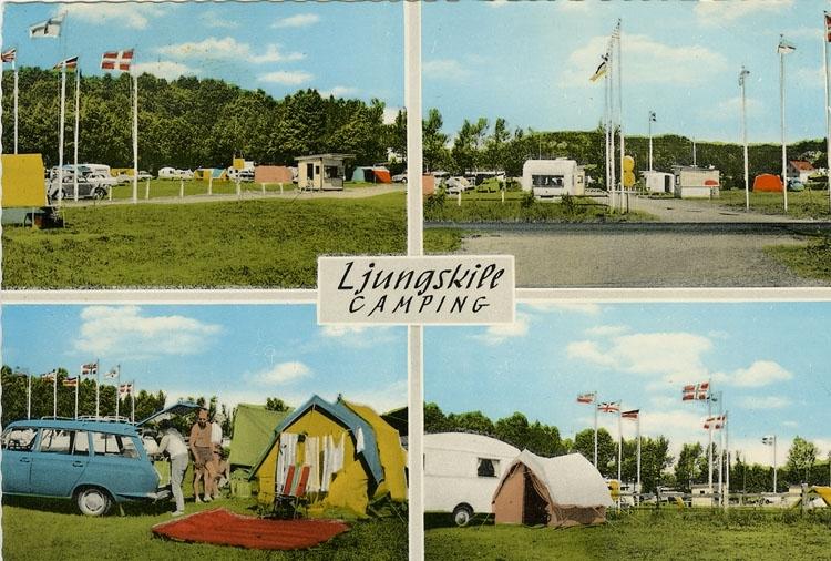 """Enligt Bengt Lundins noteringar: """"Ljungskile. Trestjärning campingplats""""."""