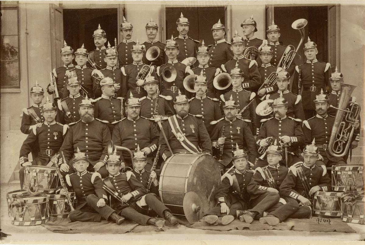 Göta livgardes musikkår på 1890-talet.