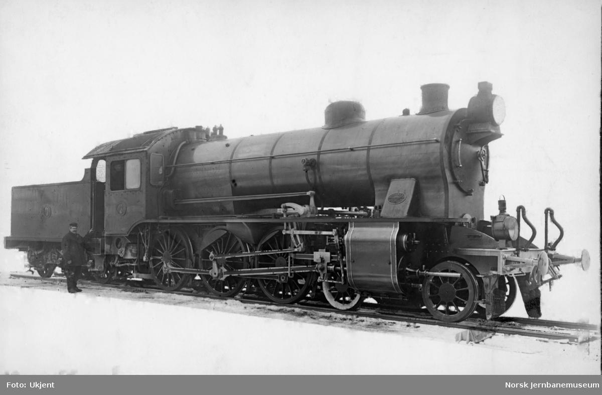 Leveransefoto av Hovedbanens damplokomotiv litra A nr. 3