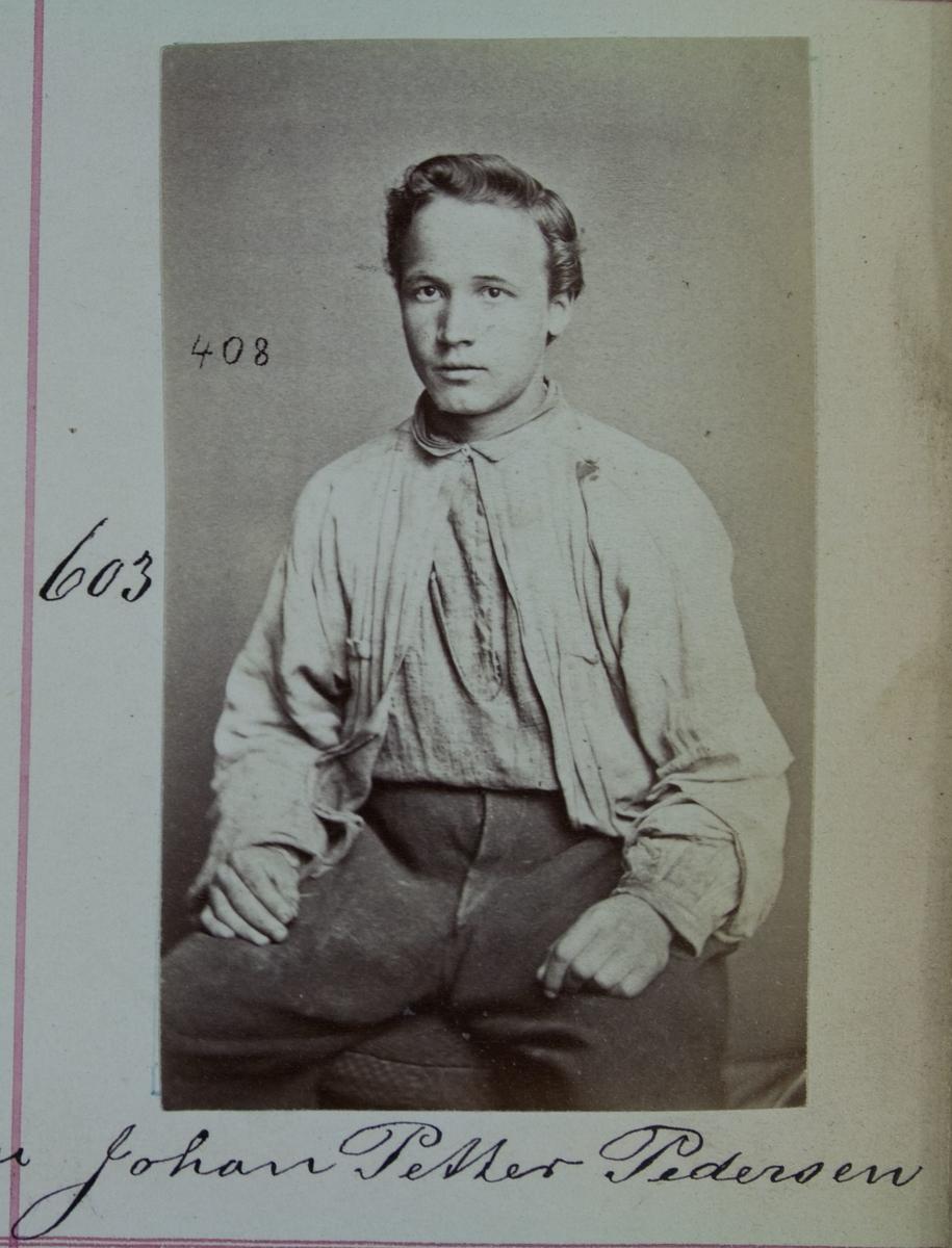 Fangeportrett, Johan Petter Pedersen