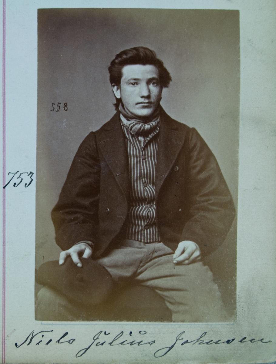 Fangeportrett, Niels Julius Johnsen